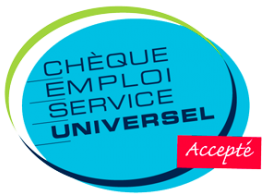 Logo Chèque Emploi Service Universel accepté
